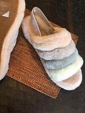 UGG Fluff Yeah Slide pink Mult Sheepskin Slipper Sandals 1097169 size 11 NEW