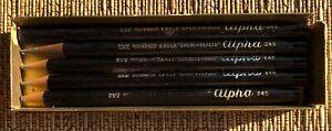 Vintage 5  Pencils No. 245 ALPHA  EAGLE Pencil Co.