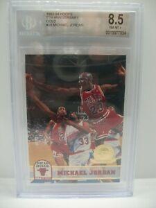 MICHAEL JORDAN 1993-94 Hoops 5th Anniversary Gold #28 BGS NM-MT+ 8.5 Bulls