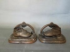Vintage Bronze Baby Shoes Bookends