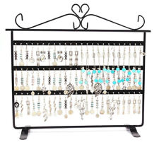 AU SELLER 1x 72 Holes Earring Jewelry Necklace Display Rack Metal Stand Holder Black