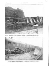 Crash de la locomotive du train ligne Paris-Strasbourg Nancy ILLUSTRATION 1933