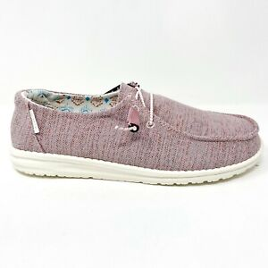 Hey Dude Wendy Pink Mix Womens Casual Lightweight Shoes 121415023