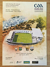 2017 GAA CLARE v TIPPERARY & WEXFORD v WATERFORD All-Ire Hurling Q-Final Program