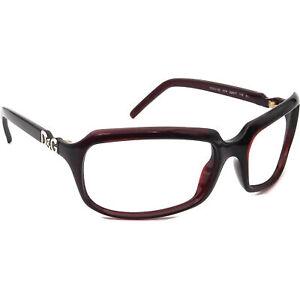 Dolce Gabbana Sunglasses Frame Only D&G 2192 K74 Burgundy Wrap Italy 62 mm