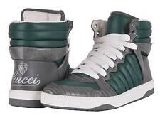 NEW Gucci Men's $1,400 Tejus Lizard Skin Nylon Sneakers Shoes 7 G 8 U.S.