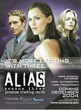 ALIAS SEASON 3 PROMOTIONAL SELL SHEET