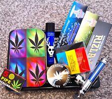 More details for rasta leaf smokers large stoner set rizla / grinder / roach / pipe / bong set