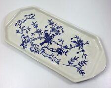 VINTAGE hand painted Blue & White Bird PANINO Piatto per torta-MMD 1958