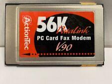 ActionTec 56K DataLink Pc Card Fax/Modem V.90 Fm560Lk Pcmcia