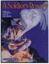 A Soldier's Rosary 1920's VTG sheet music #34