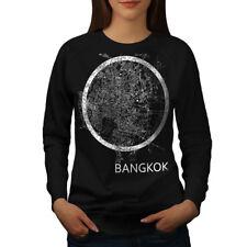 Wellcoda Thailand Bangkok Map Womens Sweatshirt, Big Casual Pullover Jumper