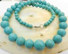 "Beautiful!6-14mm Turkey Turquoise Gemstone Beads Necklace 18"" AAA"