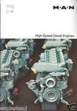 Equipment Brochure - M.A.N. - High-Speed Diesel Engines - 2 items (E2690)