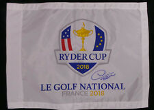 Thomas BJORN Signed 2018 Le Golf National Ryder Cup Flag Autograph AFTAL COA