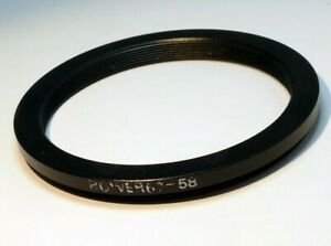 67mm to 58mm step down adapter ring for lens filter threaded double
