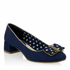 Block Heels Women's Spotted Court Shoes