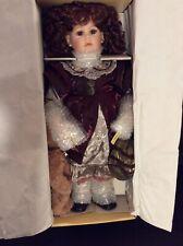 "Daria Christmas With  Bear & Doll Pin ~ Seymour Mann Porcelain Doll ~ 24"""
