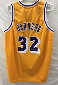 NBA Magic Johnson Los Angeles Lakers SIGNED JERSEY Steiner COA