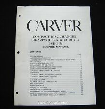 Original Carver SD/A-370, PSD-36b CD Changer Service Manual