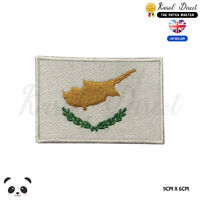 CYPRUS National Flag Embroidered Iron On Sew On Patch Badge For Clothes etc