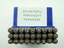 "Sienna 1/8"" 3mm Lower Case Letter Punch Stamp Set Metal-Steel-Hand a-z"