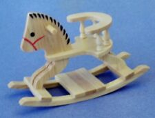 Miniature Dollhouse Oak Rocking Horse  1:12 Scale New