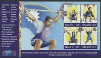NAURU: WEIGHTLIFTING CHAMPIONSHIPS 1998 - MNH MINIATURE SHEET (G10-PB)