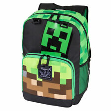 "Official Minecraft Creepy Things Green 17"" Backpack New 2020"