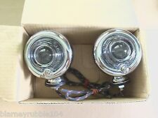 Harley Guide DH-49 Bullet Lamps Fish Eye Replaces OEM 68552-58A W/ Clear Lenses