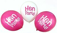 """Hen Party 12"""" Balloons - Decorations Multicoloured Wedding Bridal Shower Pink"""