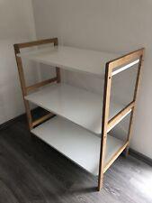 Standregal Kleines Regal aus Bambus für Küche Wohnzimmer Büro Bad etc.