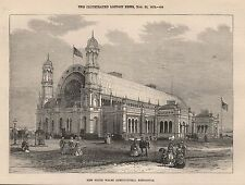 1872 NEW SOUTH WALES AGRICULTURAL EXHIBITION BUILDING EXTERIOR