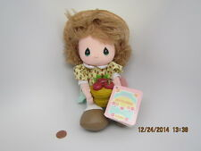 1988 Collectible Precious Moments September Doll Blue Eyes/Blonde Apple Dress Nw