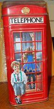 Tin Coin Bank Churchill's Telephone Kiosk Booth England Candy Toffee