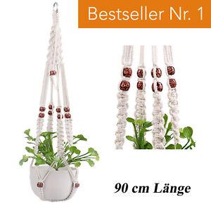 Premium Makramee Blumenampel Blumentopf Garten Balkon BOHO Hängeampel Wandbehang