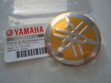 Yamaha Tuning Fork Fuel Tank GOLD Metal Badge 55mm *** GENUINE YAMAHA ***