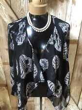 Charlotte Russe Cover Up Bolero Shrug Size S. NWT skulls Semi Sheer