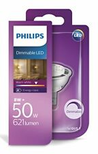 Philips LED 8 - 50w GU5.3 MR16 Dimmable Spot Light Bulb Warm White - Box Open