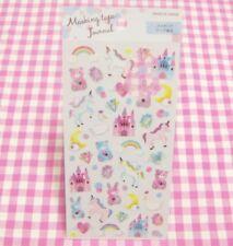 GAIA / Unicorn Castle Bear Rabbit Masking Tape Sticker Sheet / Japan Stationery