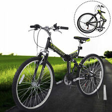 "New 26"" Folding 6 Speed Mountain Bike Bicycle Shimano School Sport Black"