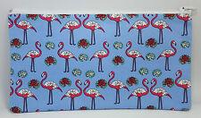 Fabulous Flamingo Fabric Handmade Pencil Case Make Up Bag Storage Pouch