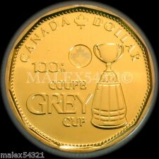 CANADA 2012 'GREY CUP 100th ANNIVERSARY' 1 DOLLAR UNC FROM ROLL 1$