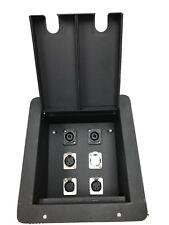 Pro Audio Recessed Stage Floor Pocket Box 6 XLR/Channel -Black