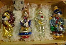 Wizard of Oz Polonaise Christmas Ornaments by Kurt Adler in crate set of 4