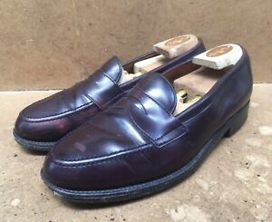 Polo Ralph Lauren Burgundy Leather Penny Loafers Size Uk 9.5 D || USA 10.5