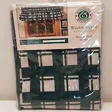 Windsor Browne Window Topper Pouff Biscayne Plaid Hunter Green 72X16 in