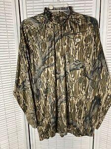 mossy oak hunt tech 1/4 zip long sleeve tee mens large polyester rn#73342