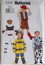 FIREMAN*COWBOY*ASTRONAUT COSTUME Butterick  Pattern 3244 NEW  Childs Size 6-8