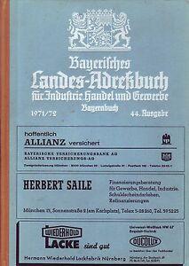 Bayerisches Landes-Adressbuch f. Industrie,Handel u. Gewerbe/Bayernbuch 1971/72!